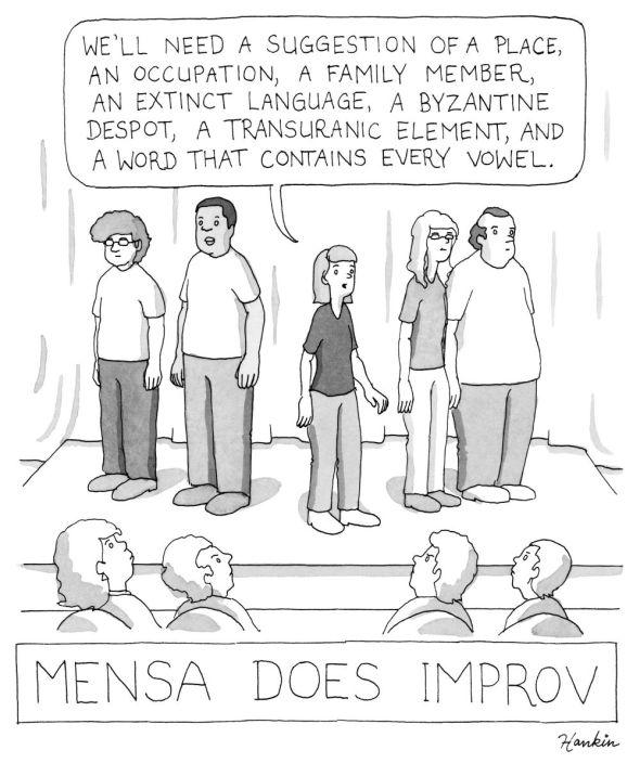 mensa does improv