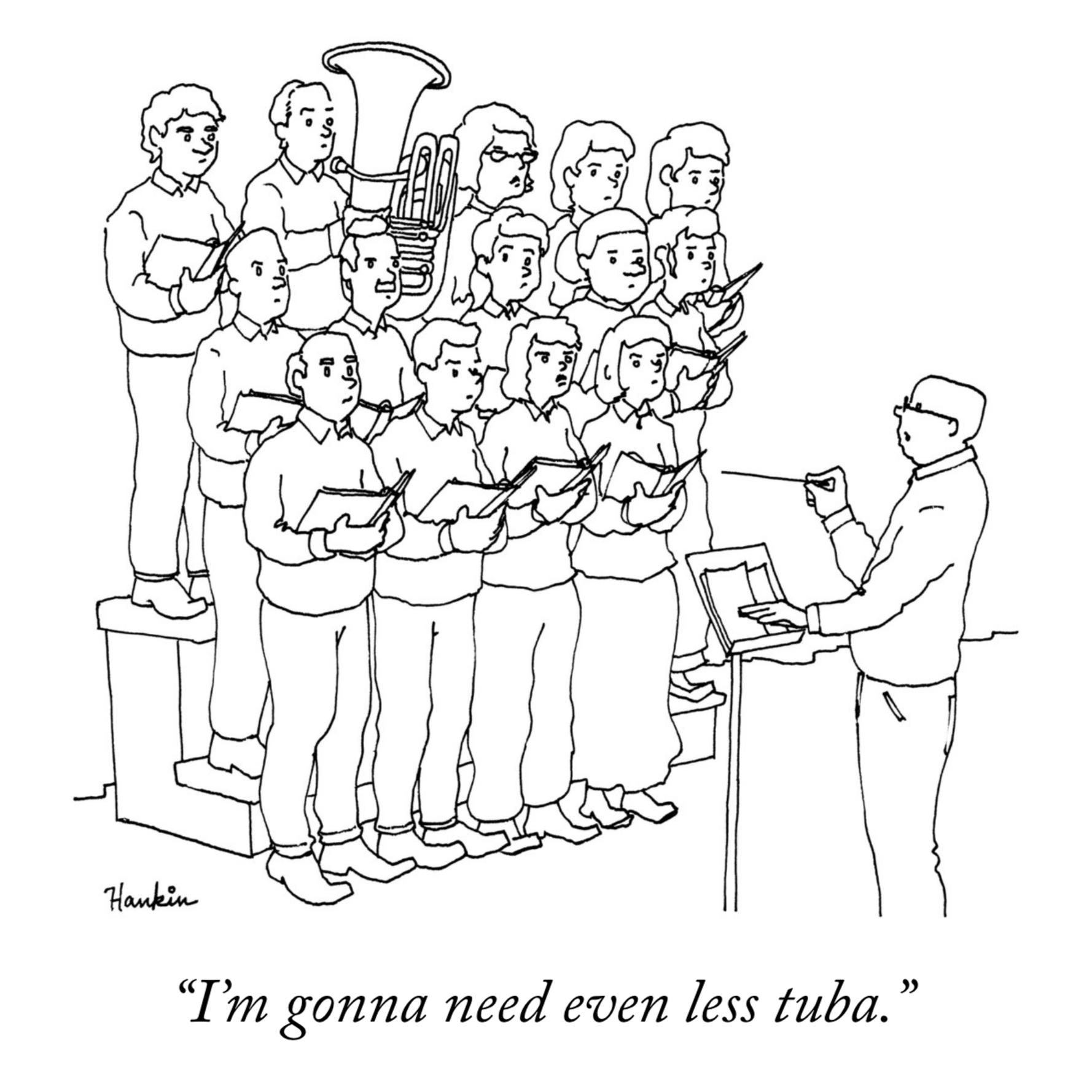 even less tuba